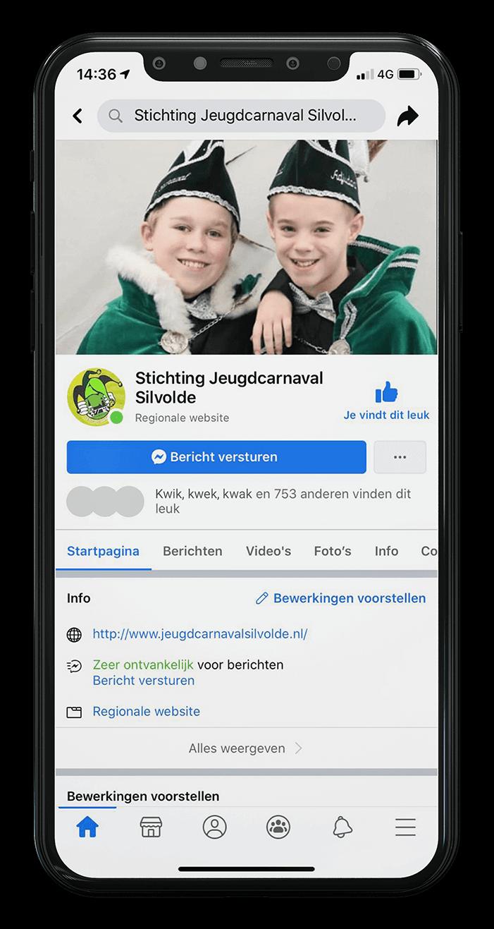 Telefoon Facebook Jeugdcarnaval Silvolde